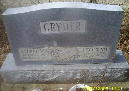CRYDER, GEORGE W. - Ross County, Ohio | GEORGE W. CRYDER - Ohio Gravestone Photos