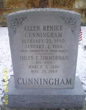 ZIMMERMAN CUNNINGHAM, HELEN E. - Ross County, Ohio | HELEN E. ZIMMERMAN CUNNINGHAM - Ohio Gravestone Photos