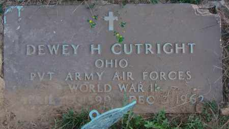 CUTRIGHT, DEWEY H - Ross County, Ohio | DEWEY H CUTRIGHT - Ohio Gravestone Photos