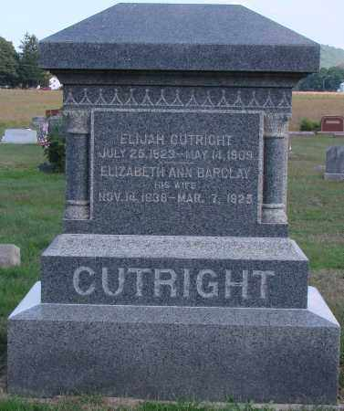 CUTRIGHT, ELIJAH - Ross County, Ohio | ELIJAH CUTRIGHT - Ohio Gravestone Photos