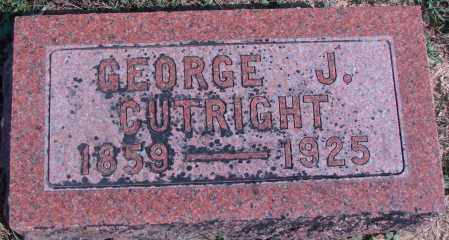 CUTRIGHT, GEORGE J - Ross County, Ohio | GEORGE J CUTRIGHT - Ohio Gravestone Photos