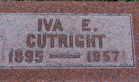 CUTRIGHT, IVA E - Ross County, Ohio | IVA E CUTRIGHT - Ohio Gravestone Photos