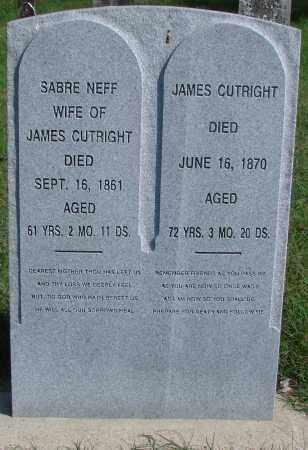 CUTRIGHT, JAMES - Ross County, Ohio | JAMES CUTRIGHT - Ohio Gravestone Photos