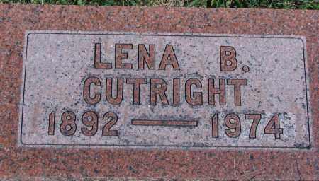 CUTRIGHT, LENA B - Ross County, Ohio   LENA B CUTRIGHT - Ohio Gravestone Photos