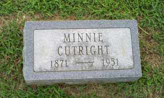 CUTRIGHT, MINNIE - Ross County, Ohio | MINNIE CUTRIGHT - Ohio Gravestone Photos