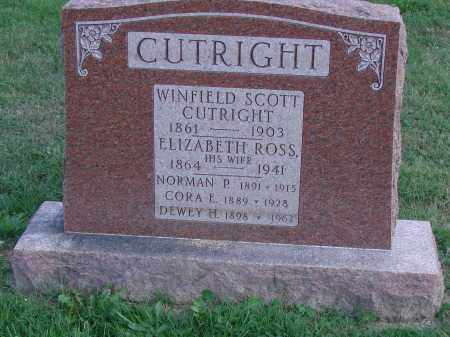 ROSS CUTRIGHT, ELIZABETH - Ross County, Ohio | ELIZABETH ROSS CUTRIGHT - Ohio Gravestone Photos