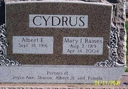 CYDRUS, MARY I. - Ross County, Ohio   MARY I. CYDRUS - Ohio Gravestone Photos
