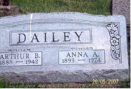 DAILEY, ANNA A. - Ross County, Ohio | ANNA A. DAILEY - Ohio Gravestone Photos