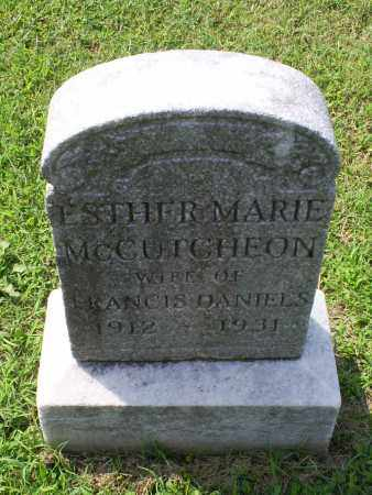 MCCUTCHEON DANIELS, ESTHER MARIE - Ross County, Ohio | ESTHER MARIE MCCUTCHEON DANIELS - Ohio Gravestone Photos
