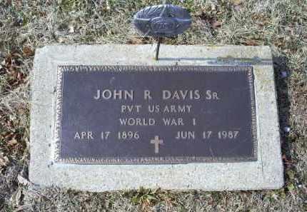 DAVIS, JOHN R. SR. - Ross County, Ohio   JOHN R. SR. DAVIS - Ohio Gravestone Photos