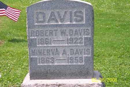 DAVIS, MINERVA A. - Ross County, Ohio   MINERVA A. DAVIS - Ohio Gravestone Photos