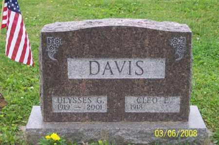 DAVIS, ULYSSES G. - Ross County, Ohio | ULYSSES G. DAVIS - Ohio Gravestone Photos