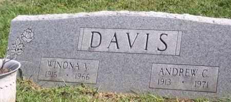 DAVIS, WINONA V. - Ross County, Ohio | WINONA V. DAVIS - Ohio Gravestone Photos