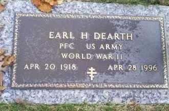DEARTH, EARL H. - Ross County, Ohio   EARL H. DEARTH - Ohio Gravestone Photos