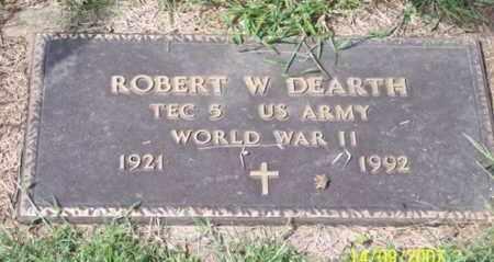 DEARTH, ROBERT W. - Ross County, Ohio | ROBERT W. DEARTH - Ohio Gravestone Photos