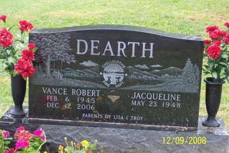 DEARTH, VANCE ROBERT - Ross County, Ohio | VANCE ROBERT DEARTH - Ohio Gravestone Photos