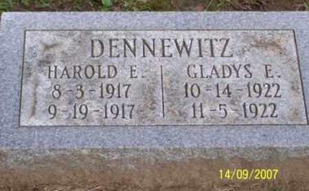 DENNEWITZ, HAROLD E. - Ross County, Ohio | HAROLD E. DENNEWITZ - Ohio Gravestone Photos