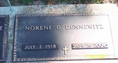 DENNEWITZ, NORENE D. - Ross County, Ohio | NORENE D. DENNEWITZ - Ohio Gravestone Photos