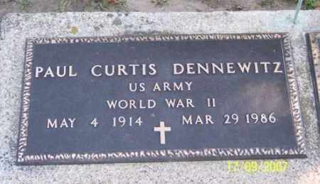DENNEWITZ, PAUL CURTIS - Ross County, Ohio | PAUL CURTIS DENNEWITZ - Ohio Gravestone Photos