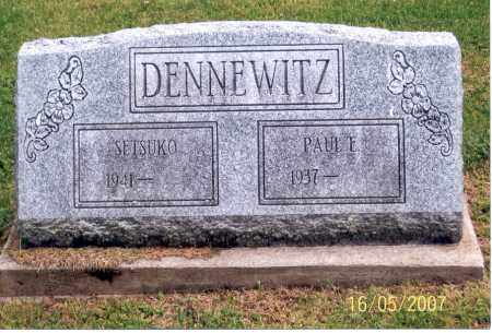DENNEWITZ, PAUL E. - Ross County, Ohio | PAUL E. DENNEWITZ - Ohio Gravestone Photos