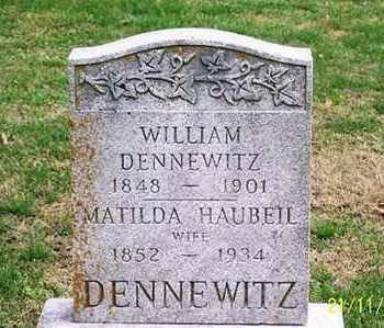 DENNEWITZ, MATILDA - Ross County, Ohio | MATILDA DENNEWITZ - Ohio Gravestone Photos