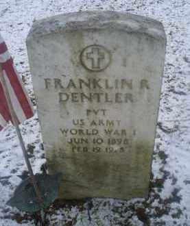 DENTLER, FRANKLIN R. - Ross County, Ohio   FRANKLIN R. DENTLER - Ohio Gravestone Photos