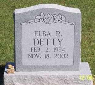 DETTY, ELBA R. - Ross County, Ohio   ELBA R. DETTY - Ohio Gravestone Photos
