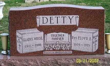 DETTY, REV. FLOYD E. - Ross County, Ohio | REV. FLOYD E. DETTY - Ohio Gravestone Photos