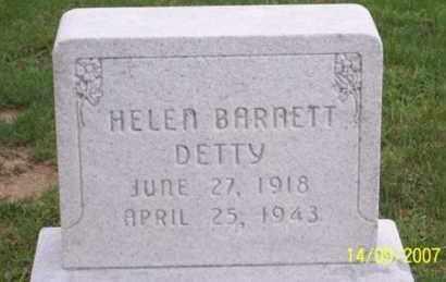 BARNETT DETTY, HELEN - Ross County, Ohio | HELEN BARNETT DETTY - Ohio Gravestone Photos