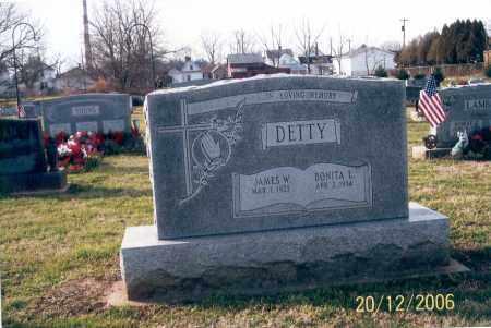 DETTY, JAMES W. - Ross County, Ohio   JAMES W. DETTY - Ohio Gravestone Photos