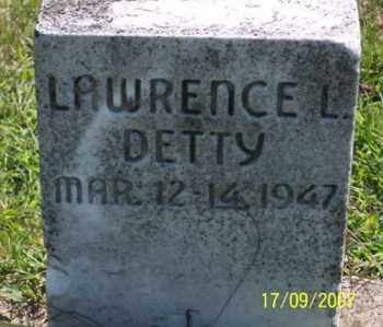DETTY, LAWRENCE - Ross County, Ohio | LAWRENCE DETTY - Ohio Gravestone Photos