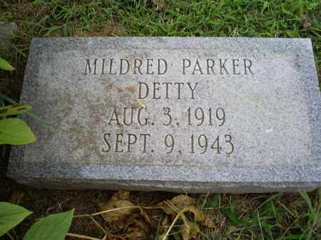 PARKER DETTY, MILDRED - Ross County, Ohio | MILDRED PARKER DETTY - Ohio Gravestone Photos