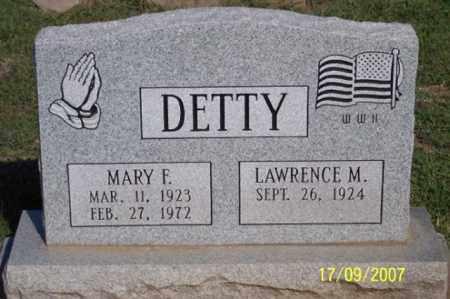 DETTY, MARY F. - Ross County, Ohio | MARY F. DETTY - Ohio Gravestone Photos