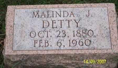 DETTY, MALINDA J. - Ross County, Ohio | MALINDA J. DETTY - Ohio Gravestone Photos