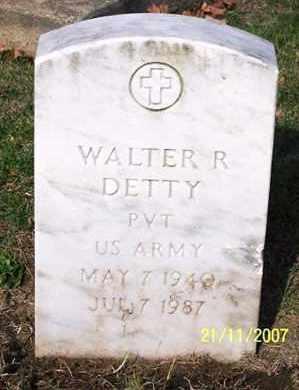 DETTY, WALTER - Ross County, Ohio | WALTER DETTY - Ohio Gravestone Photos