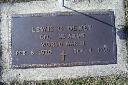 DEWEY, LEWIS G. - Ross County, Ohio   LEWIS G. DEWEY - Ohio Gravestone Photos