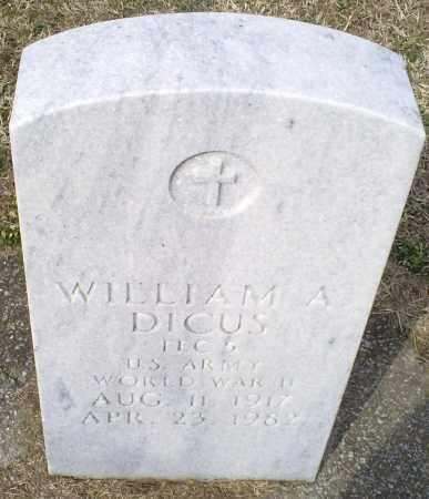 DICUS, WILLIAM A. - Ross County, Ohio | WILLIAM A. DICUS - Ohio Gravestone Photos