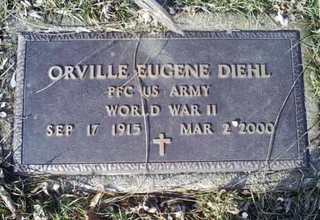 DIEHL, ORVILLE EUGENE - Ross County, Ohio | ORVILLE EUGENE DIEHL - Ohio Gravestone Photos