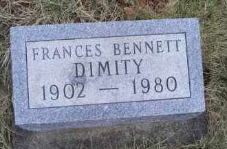 BENNETT DIMITY, FRANCES - Ross County, Ohio | FRANCES BENNETT DIMITY - Ohio Gravestone Photos