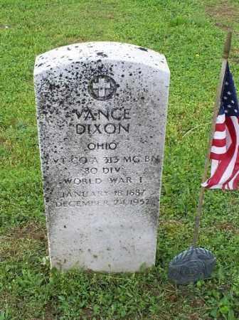 DIXON, VANCE - Ross County, Ohio   VANCE DIXON - Ohio Gravestone Photos
