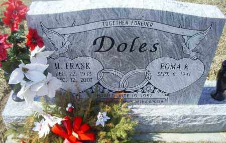 DOLES, H. FRANK - Ross County, Ohio | H. FRANK DOLES - Ohio Gravestone Photos