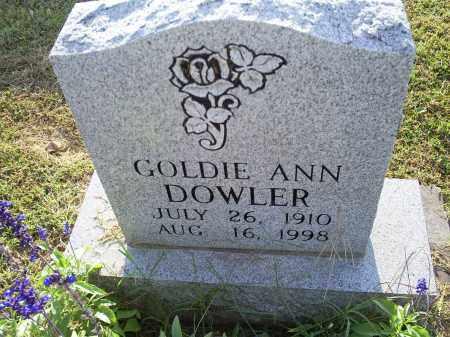 DOWLER, GOLDIE ANN - Ross County, Ohio | GOLDIE ANN DOWLER - Ohio Gravestone Photos