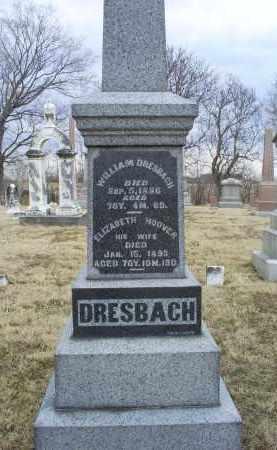 DRESBACH, ELIZABETH - Ross County, Ohio | ELIZABETH DRESBACH - Ohio Gravestone Photos