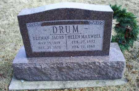 DRUM, BEHMAN JACOB - Ross County, Ohio   BEHMAN JACOB DRUM - Ohio Gravestone Photos