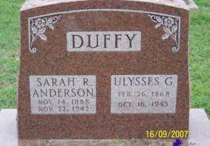 ANDERSON DUFFY, SARAH R. - Ross County, Ohio | SARAH R. ANDERSON DUFFY - Ohio Gravestone Photos