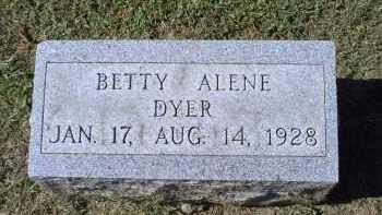 DYER, BETTY ALENE - Ross County, Ohio | BETTY ALENE DYER - Ohio Gravestone Photos