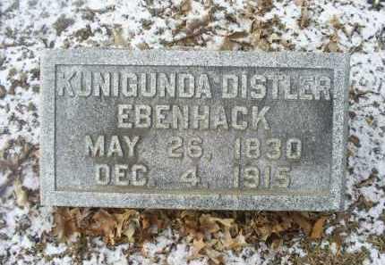 EBENHACK, KUNIGUNDA DISTLER - Ross County, Ohio | KUNIGUNDA DISTLER EBENHACK - Ohio Gravestone Photos