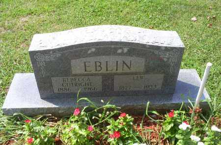 CUTRIGHT EBLIN, REBECCA - Ross County, Ohio   REBECCA CUTRIGHT EBLIN - Ohio Gravestone Photos
