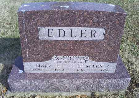 EDLER, CHARLES V. - Ross County, Ohio | CHARLES V. EDLER - Ohio Gravestone Photos