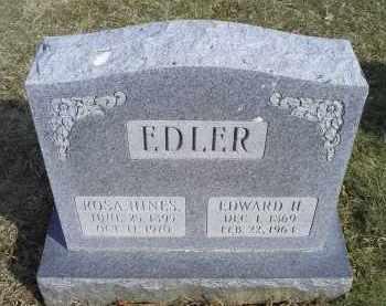 HINES EDLER, ROSA - Ross County, Ohio   ROSA HINES EDLER - Ohio Gravestone Photos